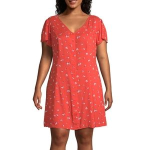 New Women's Floral Fit & Flare Dress Plus Size
